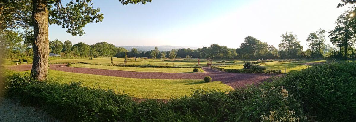 vue panoramique de l'espace cérémonie et vin d'honneur